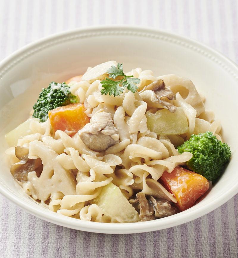 【やさしごはん】ぽかぽか根菜とチキンのホワイト煮 レシピ画像