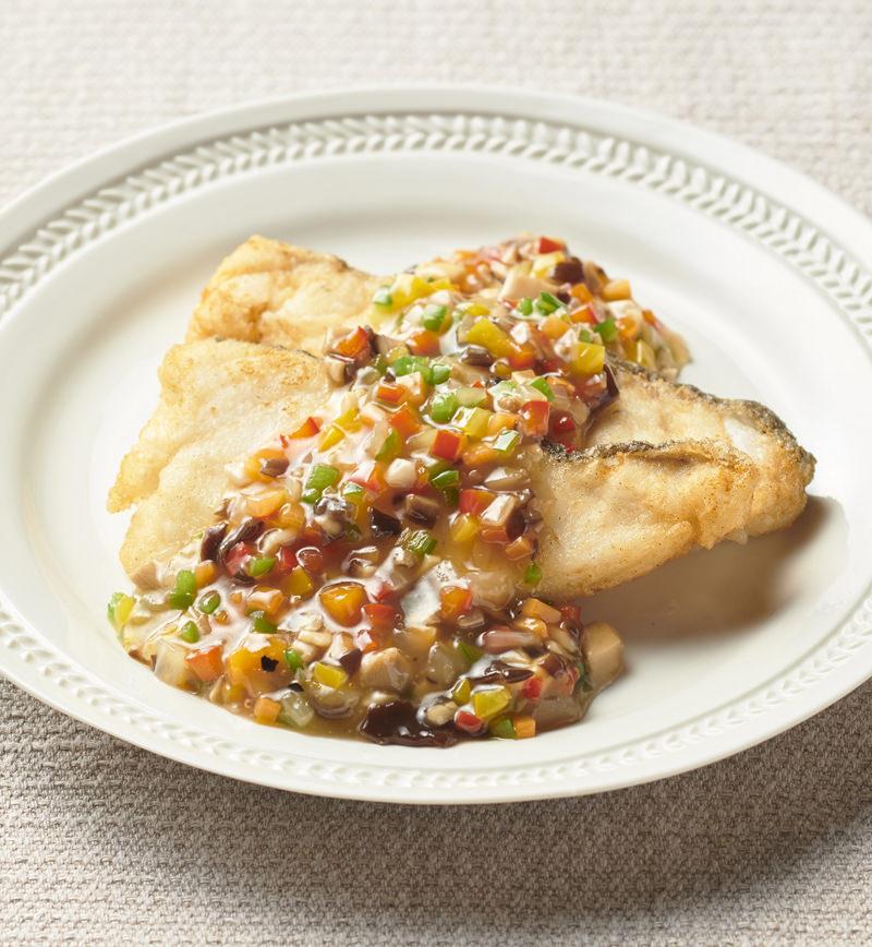 旬魚のとろっとカラフルあんかけ レシピ画像