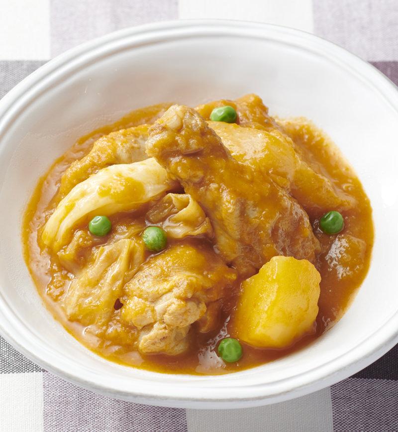 【やさしごはん】ごろりん鶏のトマトクリーム煮 レシピ画像
