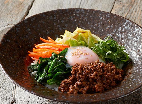 春キャベツを使ったビビンバ丼 レシピ画像