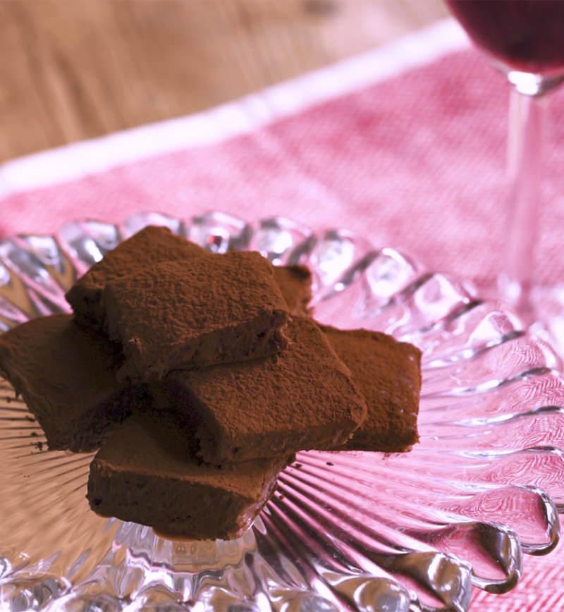 赤ワインの香る大人な生チョコ レシピ画像