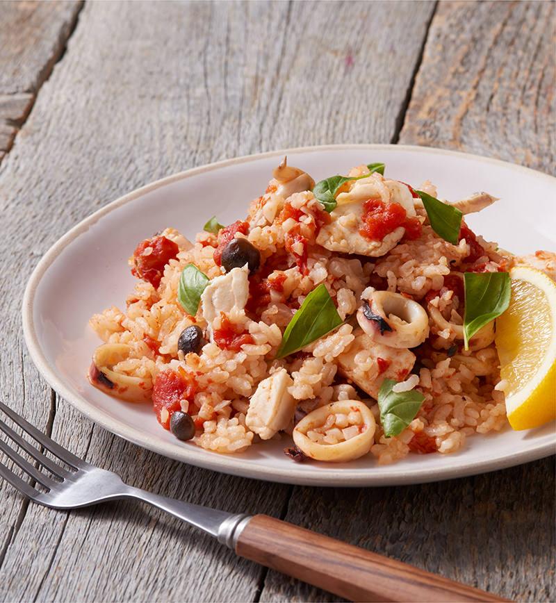 鯛とトマトの炊き込みご飯 レシピ画像