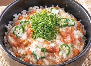 ネバネバ五目丼 レシピ画像