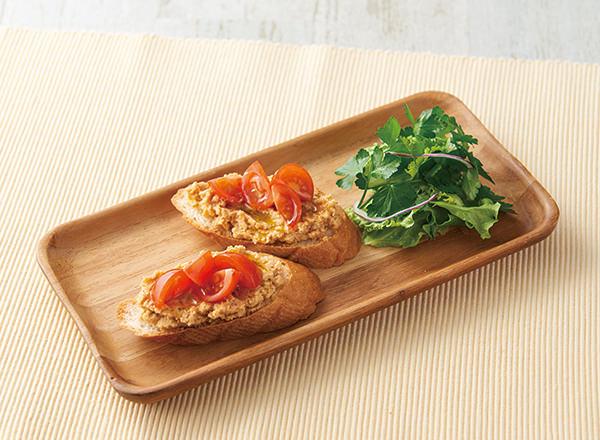 フムスとトマトのベジタルティーヌ レシピ画像