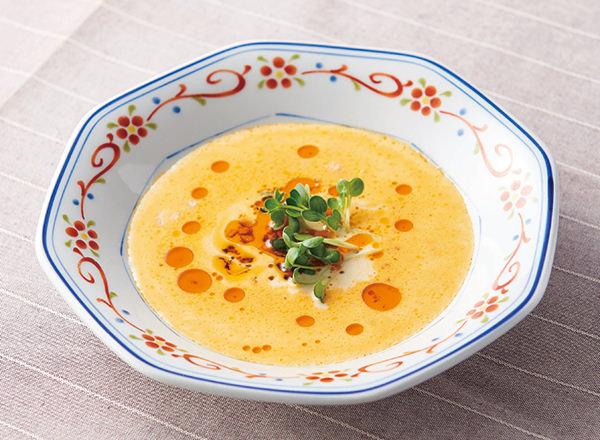 豆乳とおかず辣油でごま坦々風スープ メイン画像