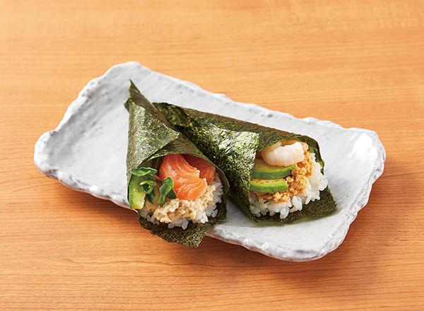 フムスの手巻き寿司 レシピ画像