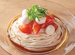 トマトとモッツァレラの冷やし麺