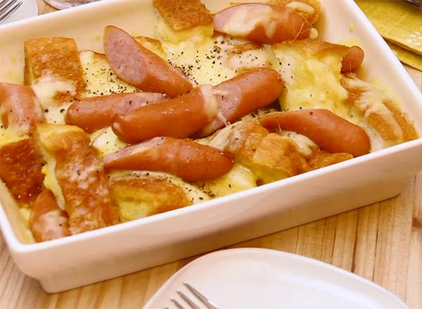 カルボ風フレンチトースト レシピ画像