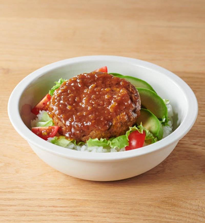 大豆ハンバーグのロコモコ風 レシピ画像