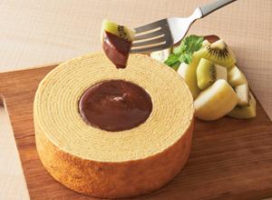 バウムクーヘンのチョコクリームフォンデュ レシピ画像