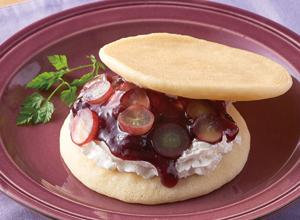 種なしぶどうのパンケーキサンド レシピ画像