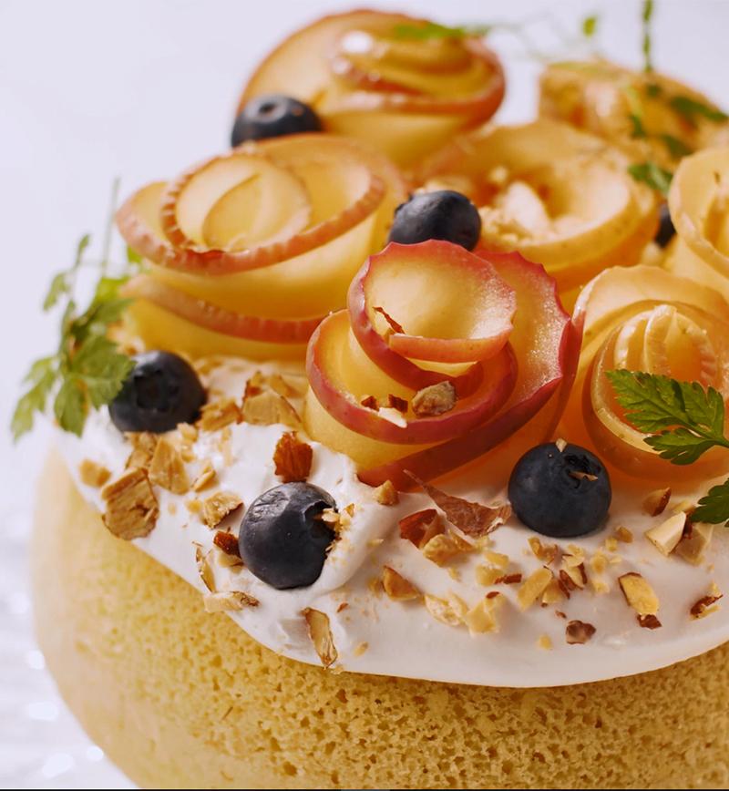 バラの豆乳ヨーグルトケーキ レシピ画像
