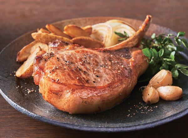炊飯器でうまみ和豚熟成骨付きロースステーキ レシピ画像