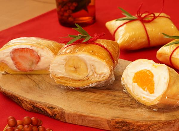 フルーツを楽しむラップクレープ レシピ画像