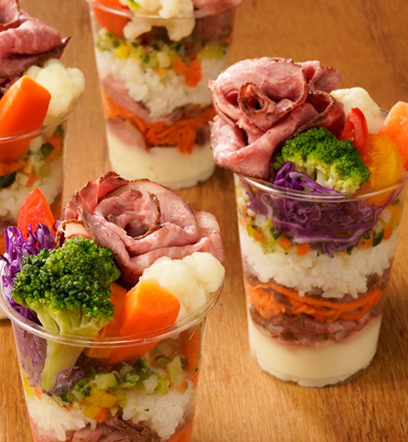 ローストビーフカップ寿司 レシピ画像