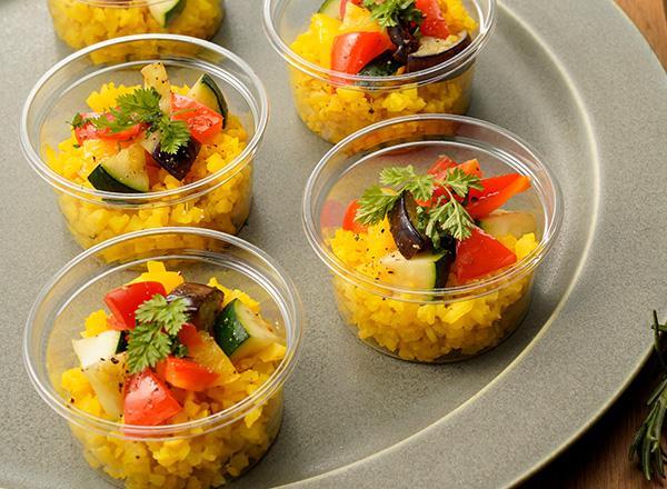 お米のかわりに食べるカリフラワー彩りピラフ