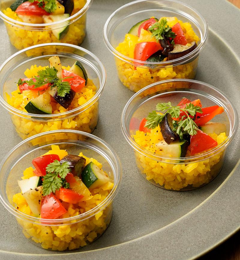 お米のかわりに食べるカリフラワー彩りピラフ レシピ画像