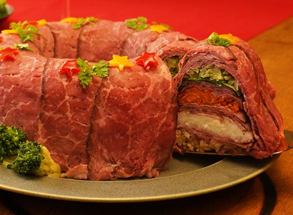 第1位 クリスマスリース風ミルフィーユ寿司 レシピ画像