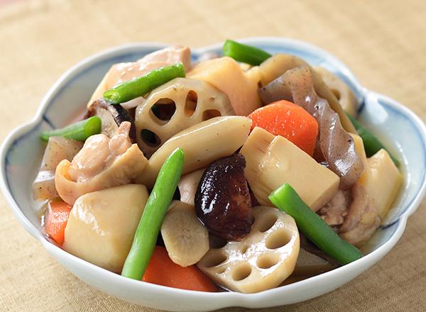 和風野菜ミックスの炒り鶏 レシピ画像