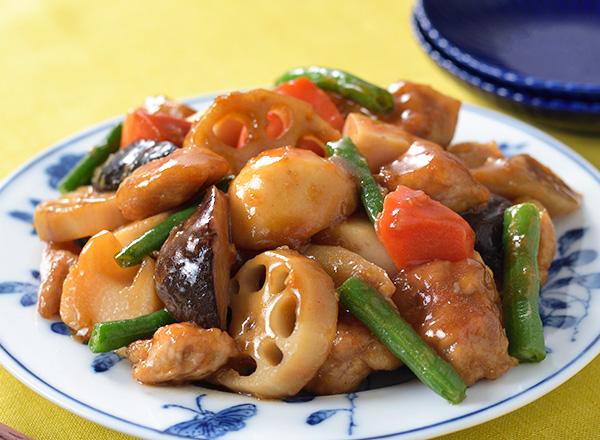 和風野菜ミックスのまろやか酢豚 レシピ画像