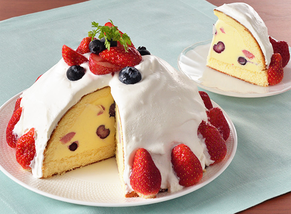 ドームアイスケーキ レシピ画像