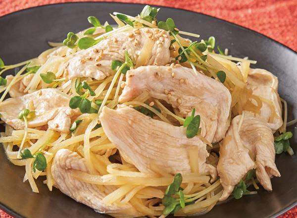 純輝鶏と新じゃがのシャキシャキサラダ レシピ画像