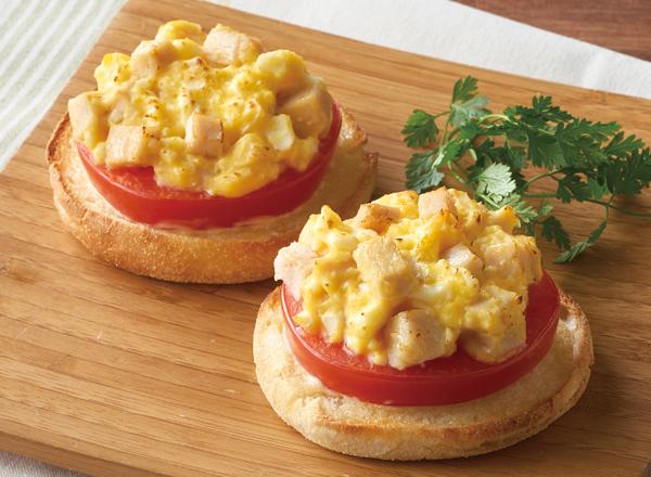 サラダチキンとたまごのマフィン レシピ画像