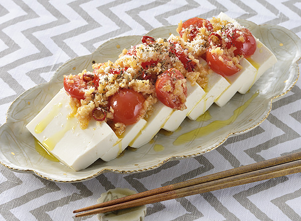 大豆ミンチとトマトのイタリアン豆腐