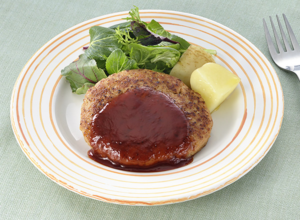 大豆ミンチを使ったハンバーグ レシピ画像