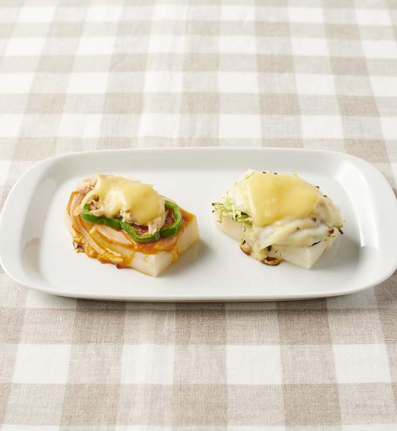 【やさしごはん】おかわり!お餅ピザ(ピザ風・和風) レシピ画像