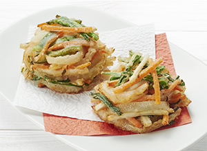 【やさしごはん】いろいろ野菜のかき揚げ レシピ画像