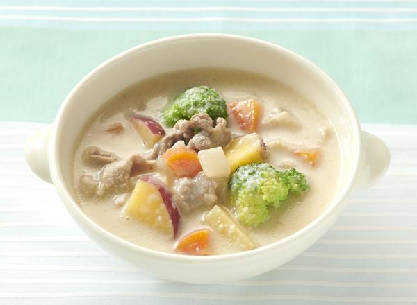 【やさしごはん】ごろごろ野菜スープ レシピ画像