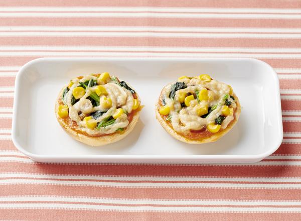 【やさしごはん】ちょこんとピザトースト レシピ画像
