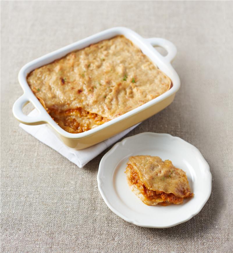 【やさしごはん】餃子の皮のラザニア レシピ画像