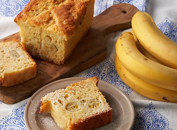 第5位 丸ごとバナナのしっとりパウンドケーキ レシピ画像