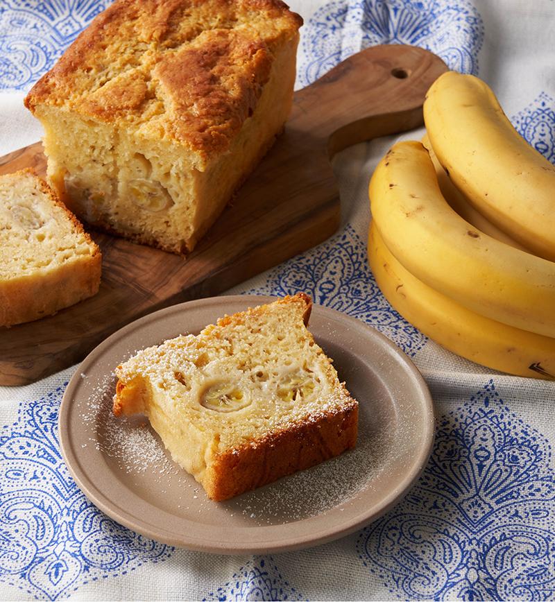 丸ごとバナナのしっとりパウンドケーキ レシピ画像