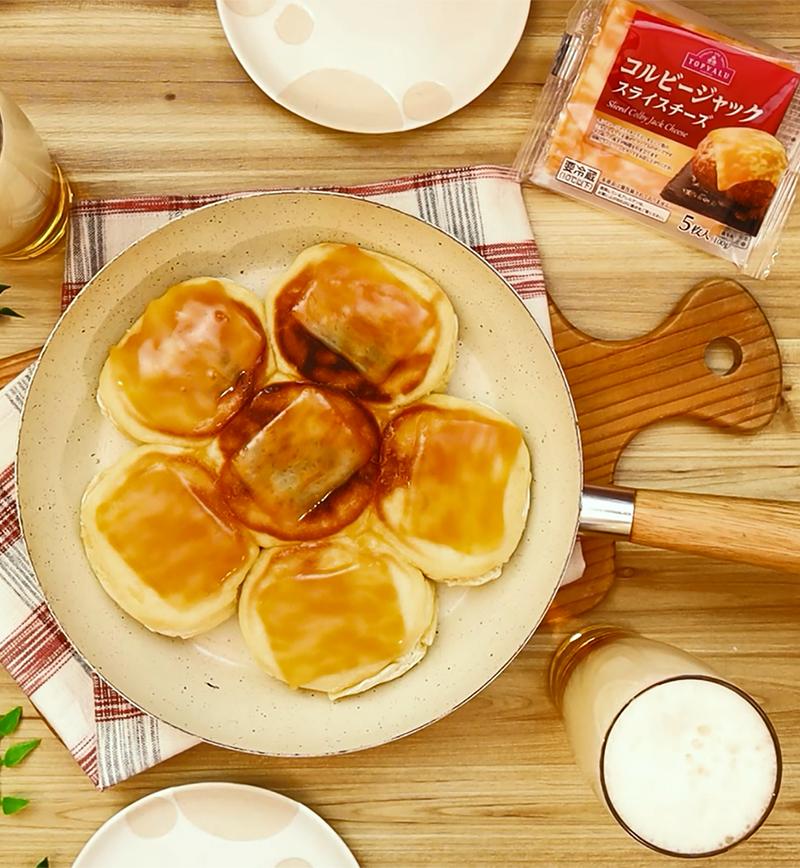 フライパンで作れる!もちもちチーズパン レシピ画像