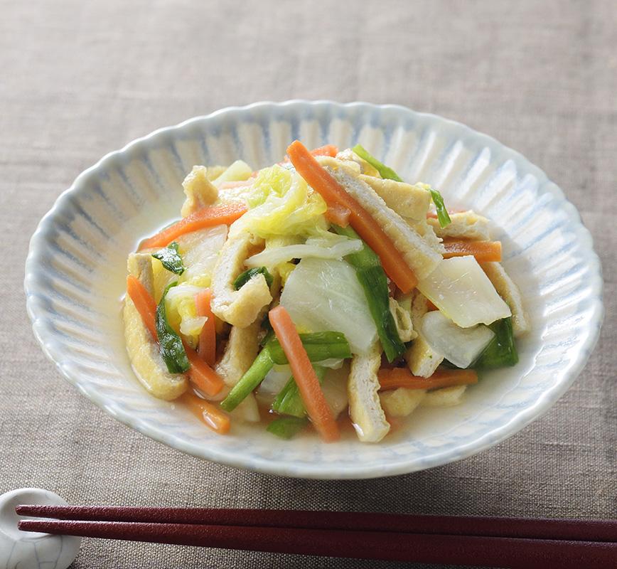 レンジ京風煮びたし レシピ画像