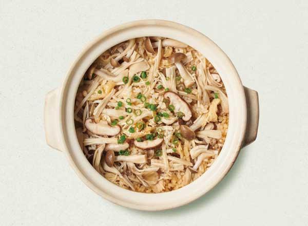 きのこの土鍋ご飯 レシピ画像