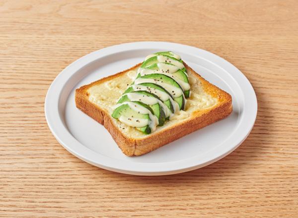 たまご不使用マヨネーズのアボカドトースト