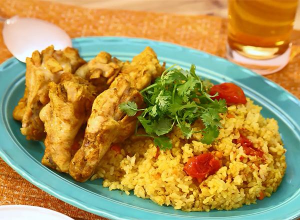 炊飯器で簡単アレンジ!ビリヤニ風炊き込みご飯 レシピ画像