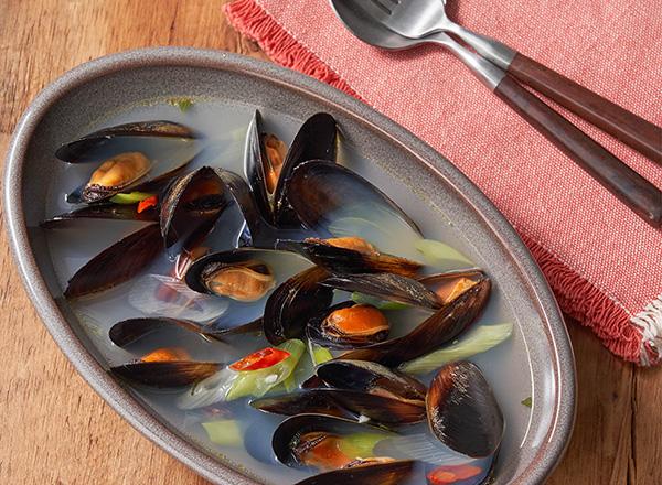 韓国風ムール貝のスープ レシピ画像