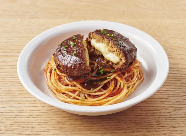 大豆からつくったハンバーグ&トマトスパゲティ