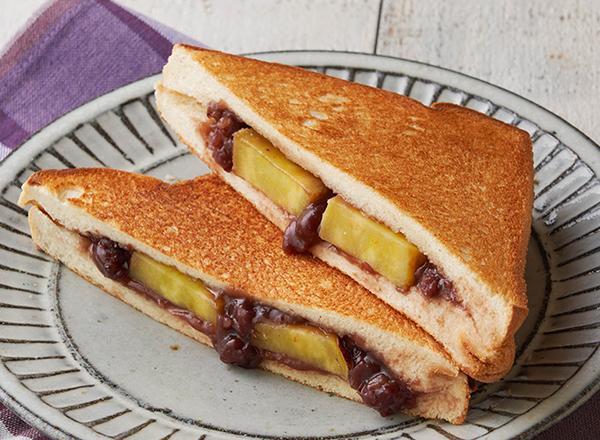 さつまいもとあんこバターのホットサンド レシピ画像