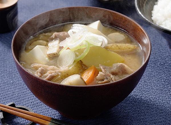 オーガニック野菜を使った豚汁 レシピ画像