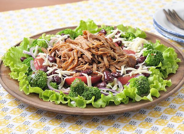 プルドポークサラダ レシピ画像