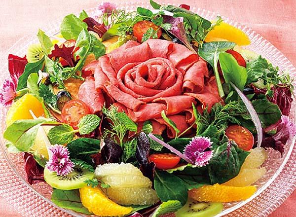 花咲くローズパンケーキ メイン画像