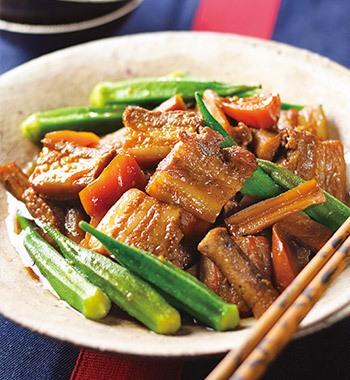 豚肉の黒酢ビール煮込み レシピ画像