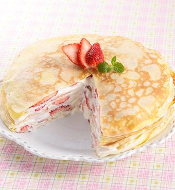 ホットケーキミックスで簡単☆いちごのミルクレープ レシピ画像