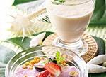 ヘルシーバナナのスムージー&ベリーグラノーラボウル レシピ画像